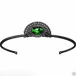 Certified Diamond Tiara 5 Ct Natural Certified Diamond Emerald 925 Sterling Silver Jewelry Headband